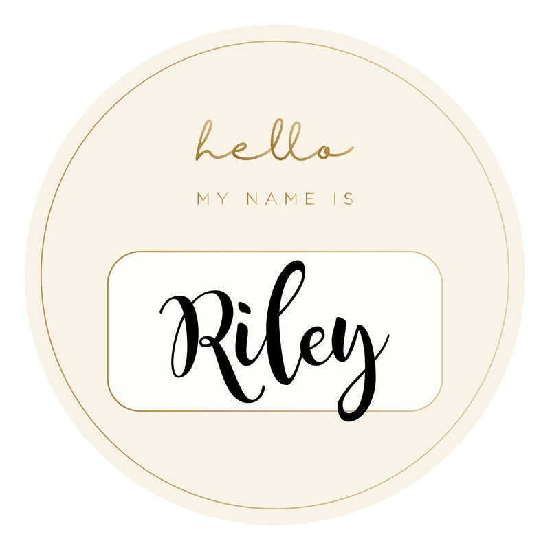 Personalized Name Tags - Gold Foil (2 pack)