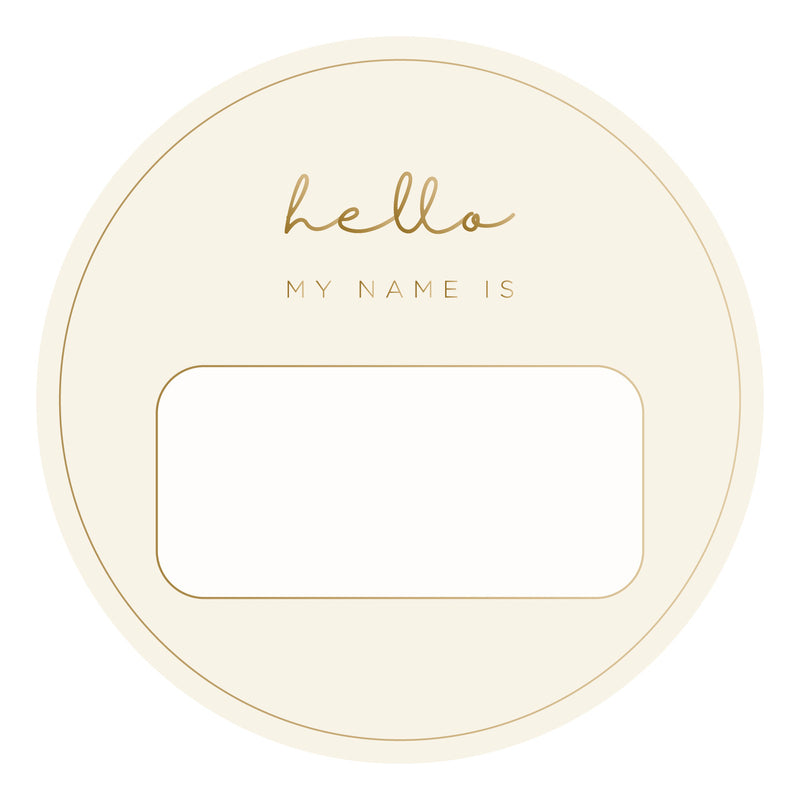 Blank Name Tags - Gold Foil (2 pack)