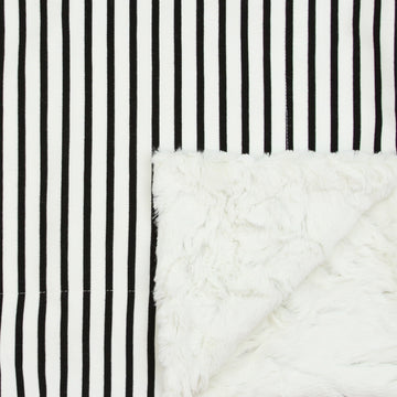 Black + White Stripe Cozy Blanket