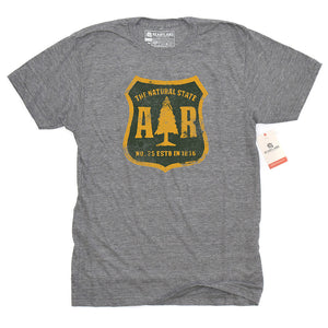 Arkansas Forestry Dept Ath Heather Triblend Tee
