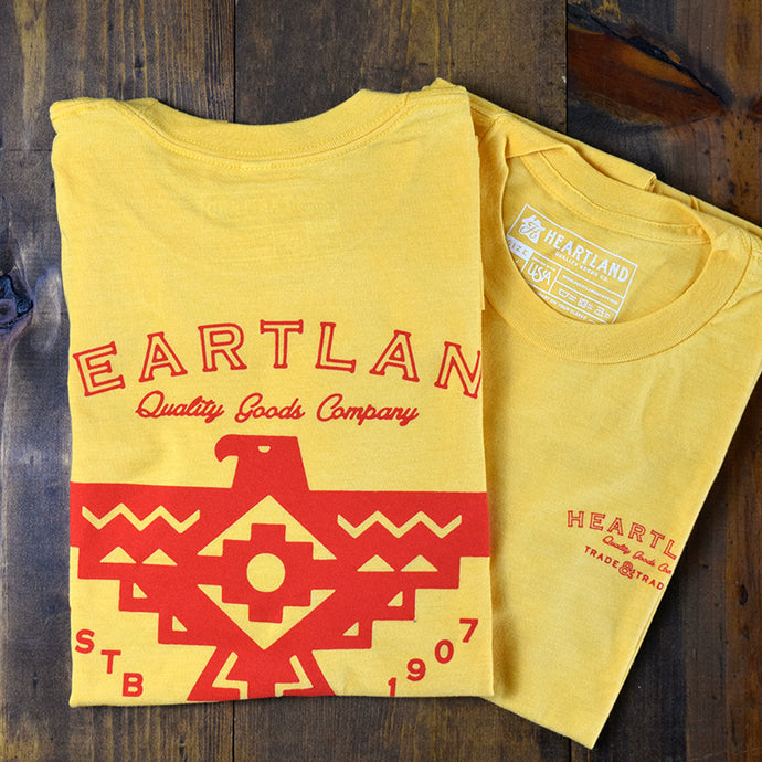 Heartland Thunderbird Tee Heather Yellow