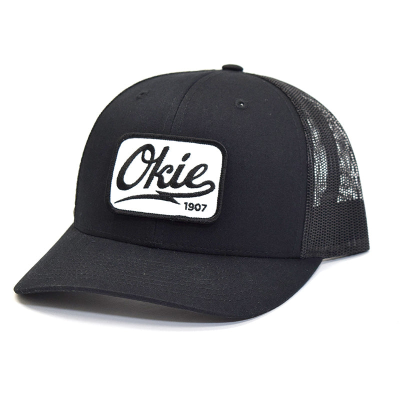 Okie Logo Trucker Hat (curved bill) - Black