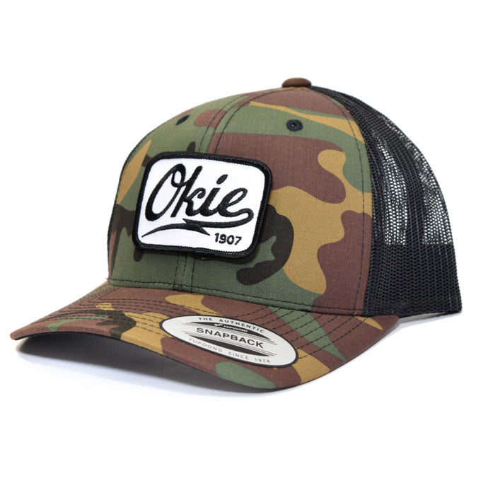Okie Logo Trucker Hat - Camo/Black
