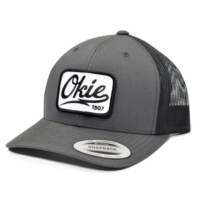 Okie Logo Trucker Hat - Charcoal/Black