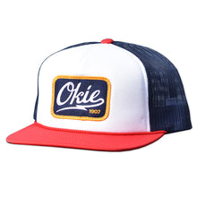 Okie Trucker Hat Foam Front Red/White/Navy