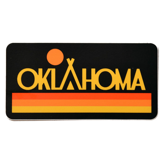 Oklahoma Native Sunset Sticker