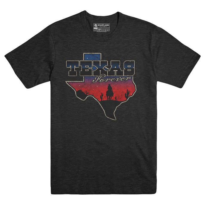 Texas Forever Heather Black Triblend Tee