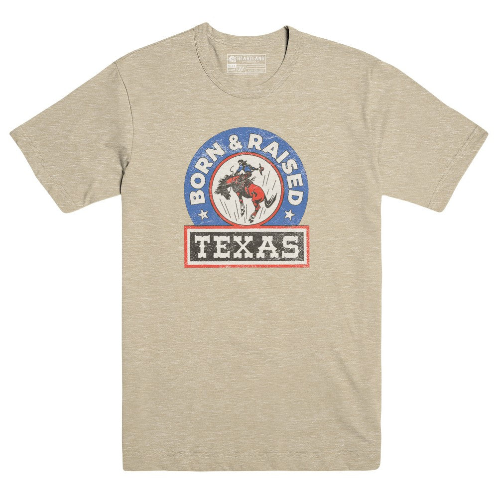 Texas Born and Raised Heather Tan Tee