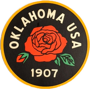 Oklahoma Rose Sticker