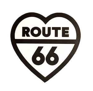 Route 66 Heart Sticker