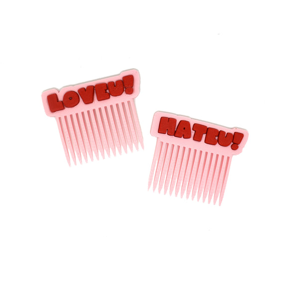LOVEU HATEU Hair Combs