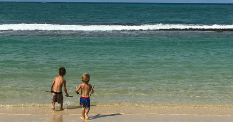 Boys Playing at Paia Beach Hawaii