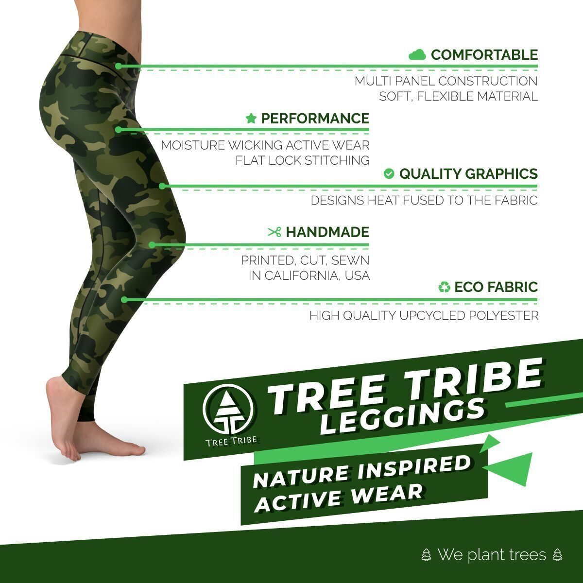 Tree Tribe leggings features