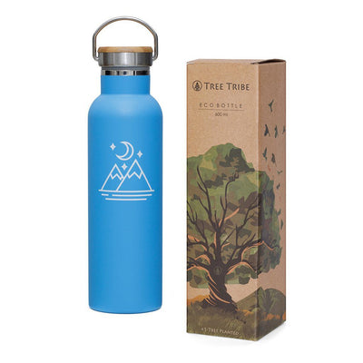 Blue Moon and Mountains Water Bottle - 20 oz  -  Reusable Bottle