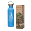 Blue Surf Sketch Water Bottle - 20 oz  -  Reusable Bottle