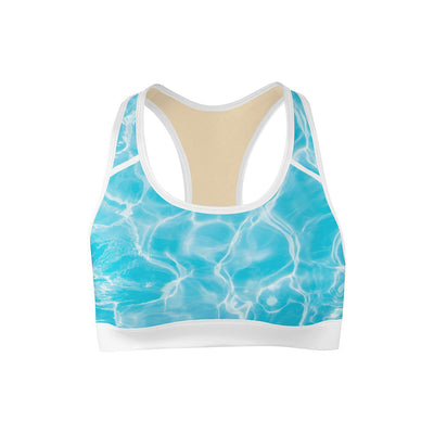 Aqua Sports Bra  -  Yoga Top