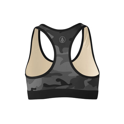 Black Camo Sports Bra  -  Yoga Top