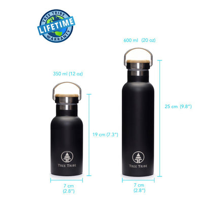 Black Tribe Logo Water Bottle - 20 oz  -  Reusable Bottle