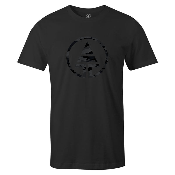 Black Camo Logo Tee  -  Men's T-Shirt S / BLACK
