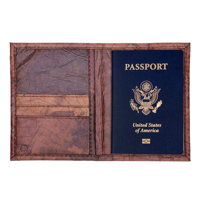 Leaf Leather Travel Wallet - Brown  -  LL Travel Wallet Brown