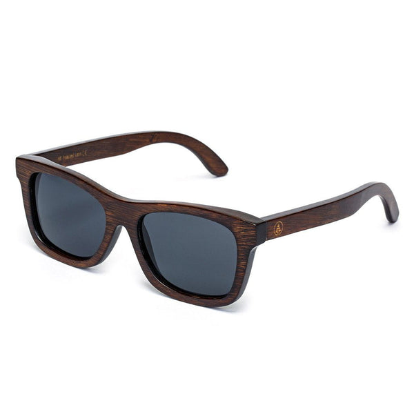 Brown Bamboo Sunglasses - Black Lens  -  Sunglasses