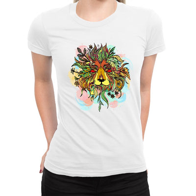Bush Lion Women's Tee  -  Women's T-Shirt XS / WHITE