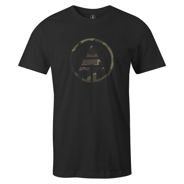 Camo Logo Tee  -  Men's T-Shirt S / BLACK