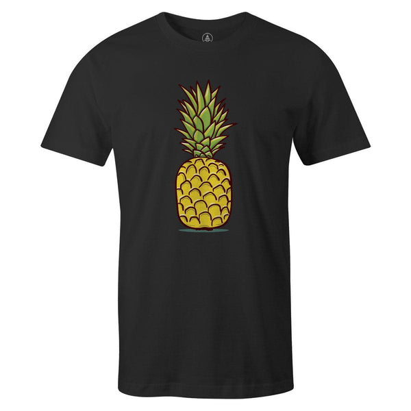 Cartoon Pineapple Tee  -  Men's T-Shirt S / BLACK