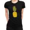 Cartoon Pineapple Women's Tee  -  Women's T-Shirt XS / BLACK