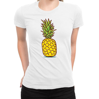 Cartoon Pineapple Women's Tee  -  Women's T-Shirt XS / WHITE