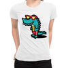 Chillin Lizard Women's Tee  -  Women's T-Shirt XS / WHITE