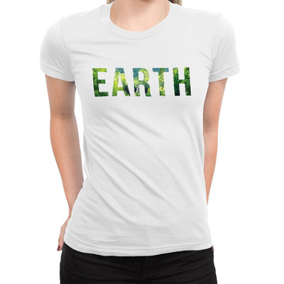 Earth Women's Tee  -  Women's T-Shirt XS / WHITE