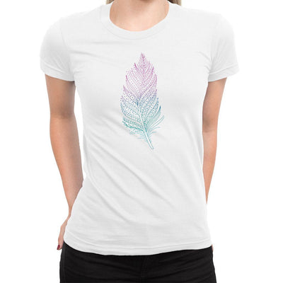 Feather Women's Tee  -  Women's T-Shirt XS / WHITE