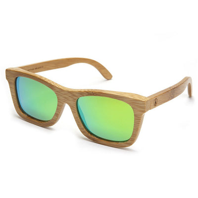 Bamboo Sunglasses - Green Lens