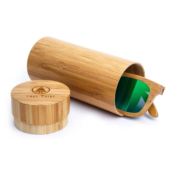 Bamboo Sunglasses - Green Lens  -  Sunglasses