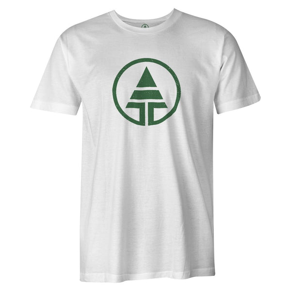 Green Logo Tee  -  Men's T-Shirt S / WHITE