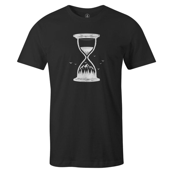 Hourglass Tee  -  Men's T-Shirt S / BLACK