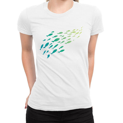 Keep Swimming Women's Tee  -  Women's T-Shirt XS / WHITE
