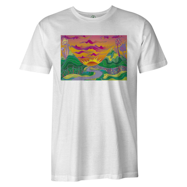 Melting Sunset Tee  -  Men's T-Shirt S / BLACK