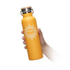 Orange Good Day Water Bottle - 20 oz  -  Reusable Bottle