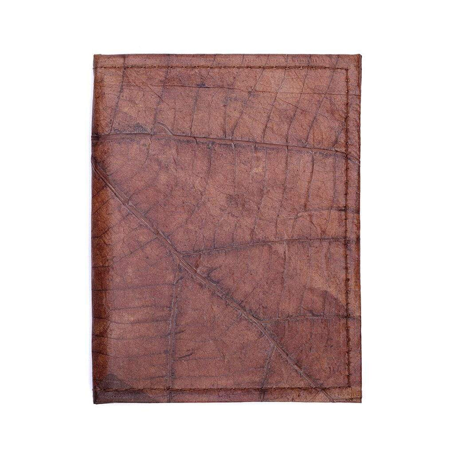 Leaf Leather Travel Wallet - Brown