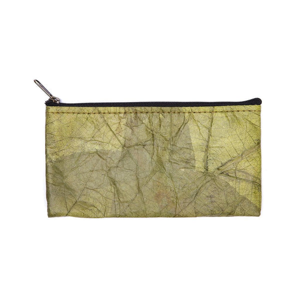 Leaf Leather Phone Bag - Green