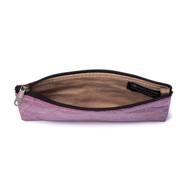 Leaf Leather Phone Bag - Purple