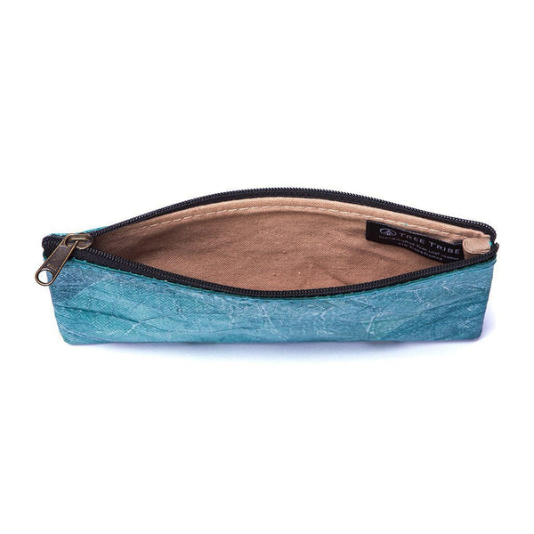Leaf Leather Phone Bag - Turquoise  -  LL Phone Bag