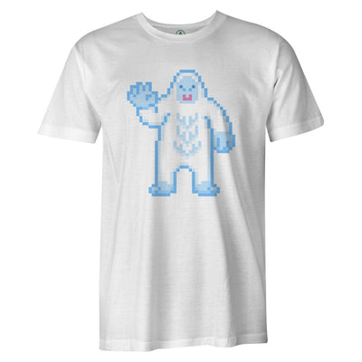 Pixel Yeti Tee  -  Men's T-Shirt S / WHITE