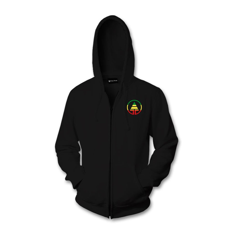 Tribe Rasta Logo Embroidered Zip Up Hoodie