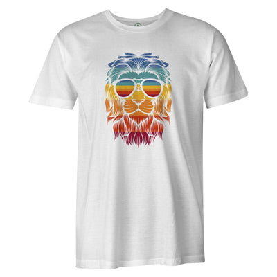 Retro Lion Tee  -  Men's T-Shirt S / WHITE