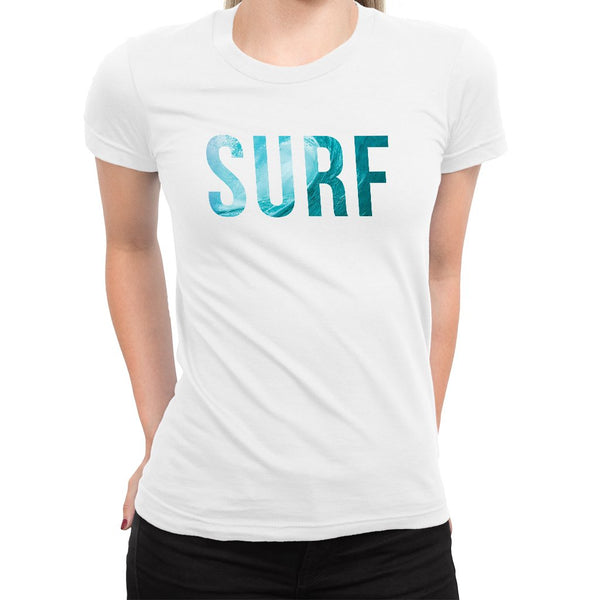 SURF Women's Tee  -  Women's T-Shirt XS / WHITE