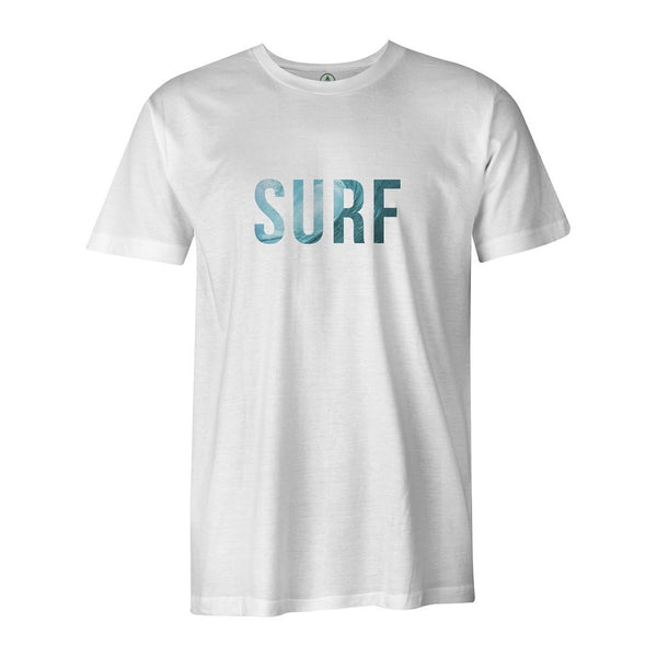 SURF Tee  -  Men's T-Shirt S / WHITE