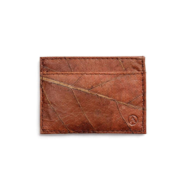 Leaf Leather Slim Wallet - Brown  -  LL Slim Wallet Brown